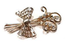 Bijou alliage doré broche intemporelle bouquet floral strass brooch
