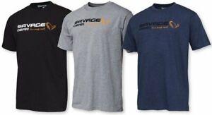 Savage Gear Signature Logo T-Shirt Black Grey Blue S-XXL Baumwolle Tee Shirt