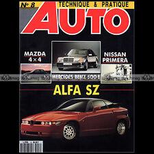 TECHNIQUE PRATIQUE AUTO N°8 BMW E36 MERCEDES 500 E ALFA SZ MAZDA 323 GTX MCA '91