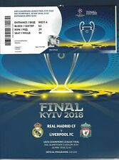 2018 Champions League Final Real Madrid v Liverpool Programme + Ticket