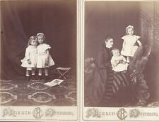 TWO IMPERIAL RUSSIAN ROESCH CABINET PHOTOS COUNTESS KATYA KLEINMICHEL & CHILDREN
