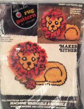New Vintage Coats & Clark Red Heart Rug Pattern Latch Hook #6673-05 Dandy Lion