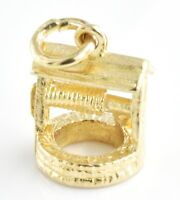 Vintage 9ct Gold Charm - Small Wishing Well 1.6g 11mm (Hallmarked) 9k 375