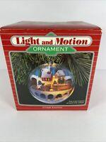 Hallmark Keepsake Magic Light & Motion Ornament Village Express Train VTG 1986