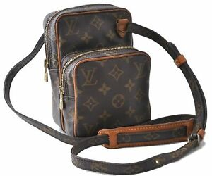 AuthenticLouis Vuitton Monogram Mini Amazone Shoulder Cross Body Bag LV B9810