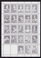 1964 Boxing World Heavyweight Champions GREY Sheet/Set Of 23