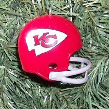 KANSAS CITY CHIEFS Christmas tree ornament SUPER BOWL 4 HELMET NFL football xmas