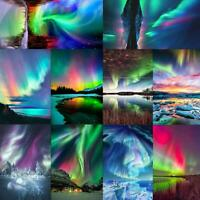 5D DIY Full Drill Diamond Painting Aurora Scenery Embroidery Home Art Decor Kits