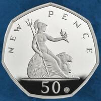Großbritannien - 50 Jahre 50 Pence in UK - 50 Pence 2019 Silber PP - United  ...