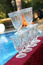 COLONY by Fostoria Clear Heavy SWIRL Iced Tea Glasses Goblet Set/6 Elegant