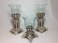 """Southern Living Historical Bell Jar 1 Small 8"""" & 2 Tall 11"""" Candle Holders"""