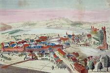 LUZERN - Guckkastenblatt - kolorierter Kupferstich um 1810