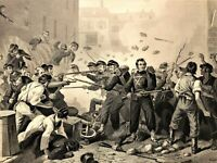 Baltimore Riot Union soldiers attacked by mob 1862 Virtue Civil War Battle Scene