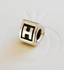 "Genuine Pandora Silver Charm ""Letter H"" - 790323H - retired"