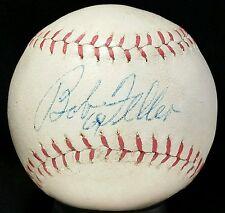 1960s BOB FELLER Signed Baseball vtg old auto Cleveland Indians Team