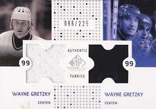 02-03 SP Game Used Wayne Gretzky /225 Jersey Fabrics LA Kings NY Rangers 2002