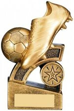 GOLDEN TOP GOAL SCORER BOOT AND BALL TROPHY AWARD FREE ENGRAVING RF224C