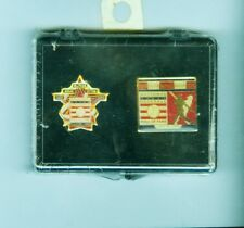 Vintage 1998 Doby, etc. 2-pin Baseball Hall of Fame set (Mint, sealed)