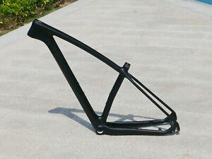 "Toray Carbon Matt 29ER Mountain Bike Bicycle MTB Frame 19"" Axle 142mm QR 135mm"
