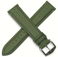 22MM HAND MADE TOP QUALITY GENUINE LEATHER RALLY SPORTS WATCH STRAP RRP £29.95
