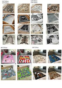 Washable Rugs thickness 5mm printed face with anti-slip back different sizes