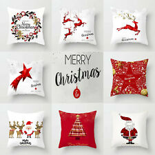 Christmas Washable Sofa Pillow Case Car Cushion Home Deco 1Pcs 8Pcs Pack 18x18in