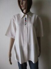 Damen Trachten Bluse Gr.M Farbe:Natur 1/2 Arm Stickerei