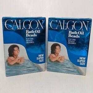 2 Box Lot Vintage Calgon Bath Oil Beads Super Size Sealed 1970s 1980s Prop