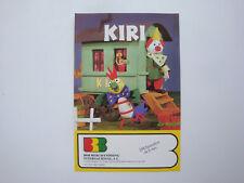 Prospectus ancien espagnol catalogue du dessin animé Kiri le clown BRB