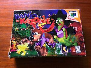 Banjo-Kazooie (Nintendo 64, 1998) CIB, Tested, Good Overall Condition