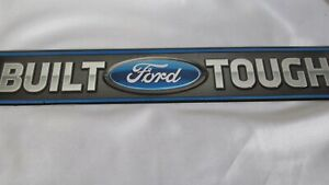 """"""" Built Ford Tough """" Embossed Metal Sign Ford Trucks& Cars Street Style Sign"""