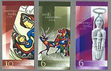 CANADA 2002 Set of 3 Booklets - CHRISTMAS (Noel) - (F/v $16.20) Complete - MNH