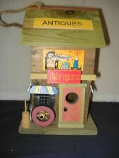 Rustic Country Village Antiques Store Wood 2 Story Bird House Bird Feeder Euc