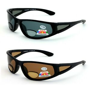 2 Pairs Men Polarized Bifocal Sunglasses - Fly Fishing Readers Outdoor Reading
