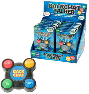 BACKCHAT TALKER FUNNY NOISE GADGET TOY GIFT PARTY BAG CHRISTMAS STOCKING FILLERS