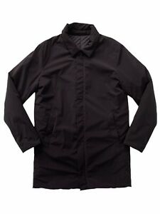 Selected Homme SLHCLEAN COAT B Thermore Insulation Black Quilted Overcoat Size M