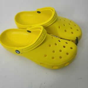 Crocs Mens Shoes Size 8 Yellow New