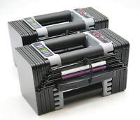POWERBLOCK Elite EXP Adjustable Dumbbell Weights 2020 Black (503-00096-01) New
