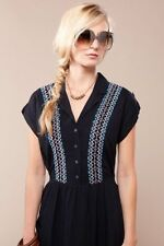 Suzabelle Julio Dress Black with embroidered design XS S M L Women's