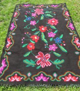 Vintage Romanian flat weave rug, kilim from Transylvania, tribal rug , carpet