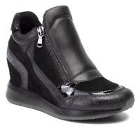 GEOX RESPIRA NYDAME D620QA scarpe donna sneakers alte pelle camoscio zeppa