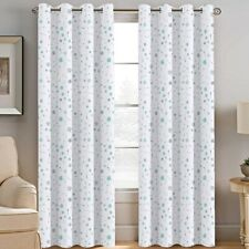 1pc Printed Blackout Window Curtains Bedroom Living Room White Lined Fabric