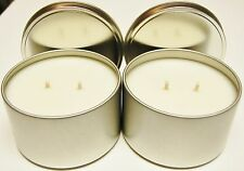 6 pack 16 oz Tins Emergency Soy Candles Double wick 150 + Hours