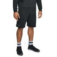 Under Armour Mens Rival Fleece Shorts Pants Trousers Bottoms Black Sports Gym