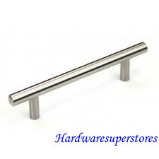 "4"" Solid Stainless Steel Cabinet Bar Pull Handle Brushed Nickel"