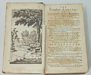 1759 THE COMPLEAT ANGLER Izaak Walton, Charles Cotton - Henry Kent edition