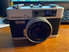 Konica C35 35mm Film Camera w/ 38mm F2.8 Hexanon Lens