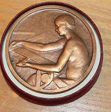 médaille bronze cta cinquantenaire  elle est signée f.p. niclausse