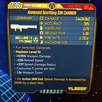 (Xbox) Borderlands 3 [Level 65/Mayhem 10] Ion Cannon (Rad) (200%SPLASH)