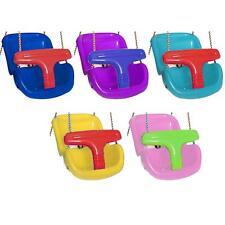 BABY TODDLER SWING SEAT ADJUSTABLE CLIMBING FRAME GARDEN PLASTIC SWING T-BAR NEW